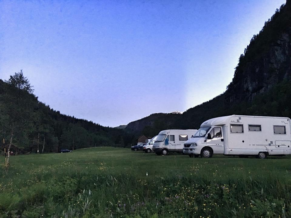 En vakker kveld på Taulen Camping